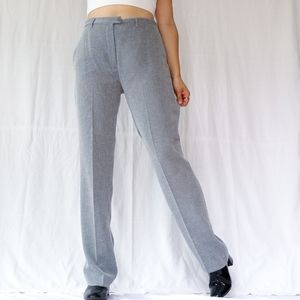 Vintage high waisted silver shiny pantsuits